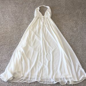 Show Me Your MuMu White Halter Dress. Size Large.